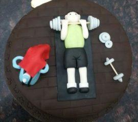 Gym Theme 3kg Cake For You