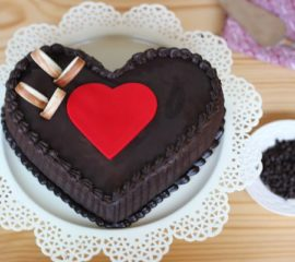 Chocolate Truffle Heart Cake for you