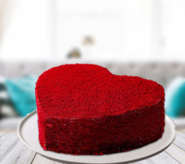 Red velvet heart cake for you